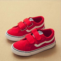 Wholesale magic hook loop resale online - kids shoes new children s canvas white shoes men s and women s magic stickers casual shoe