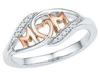 ingrosso gioielli per le nuove mamme-Nuovo rame amore mamma anello madre regalo strass lettera cuore oro rosa argento donne gioielli regalo festa della mamma