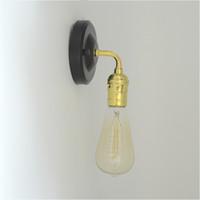 endüstriyel lambalar toptan satış-Endüstriyel Antika Çatı Retro Vintage Demir Duvar lambası Edison Lamba Yeni DIY Duvar Lambaları E070