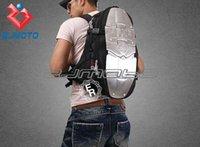 rucksäcke für motorräder großhandel-Kühle Motorrad Taille Packsack Motocross Rucksack Racing Mode ASMK Legierung Tasche Rucksäcke 5 Metallplatte Aluminium Rucksack ZJMOTO