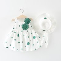 Wholesale dresses america - Summer new small girls Europe and America dress skirt baby print dress ins explosion models beach skirt