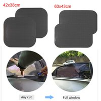 Wholesale wholesale windshield sun visors cars online - heap Car Stickers Car Sun Shades Sticker Window Covers goods Glass Windshield PVC Visor Shield Protector Solar Universal Auto Accessories