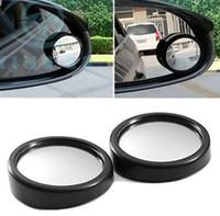 diy small cars großhandel-2x Auto Auto Black Blind Spot Mini kleine Runde Rückspiegel 360 ° Winkel Stick-on Seite diy