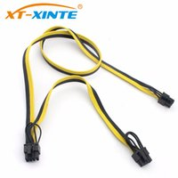 Wholesale Power Line Module - F24451 Modular PSU Power Supply Cables 8Pin to 6+2Pin Cable Graphics Card Module Line 8P to Dual 8p Splitter Ribbon Cable 18AWG 70+20cm