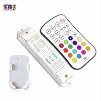 ingrosso ricevitore mini rf-LTECH DC12V Led RGB Strip Mini Controller LED RGB luci nastro RF Pannello remoto Wireless CV Ricevitore di tensione costante M6 + M3-3A