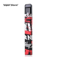 Wholesale vapor storm - New Vapor Storm Stalker Starter Kit 400mah Battery 1.8ml Cartridge Refillable Vape Graffiti Electronic Cigarette Pen Kit Pod Refill Ecigar