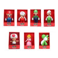 фигурка принцесс оптовых-23 см Super Mario bros рисунок Йоши персик Принцесса жаба ПВХ фигурку игрушка Марио Луиджи рисунок игрушка кукла