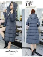 Wholesale garment size for sale - Group buy Women Winter Long Down Jackets Coats Woman Thick Slim Warm Down Parkas Coats Women Clothes Hooded Outerwear Garment Coats Plus Size