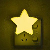 lâmpadas estrelas de energia venda por atacado-Poupança de energia LEVOU Luz de Plástico Cinco Apontou Forma de Estrela Lâmpada Noite Seguro Longa Vida Luzes Inteligentes Moda 2cz B