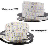 Wholesale Double Rows Waterproof Led Strip - 5M DC 12V 600Led 120led m waterproof SMD 5050 RGB Warm White led strip Double Row Flexible ribbon tape light