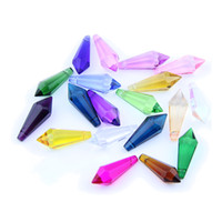 crystal car sales 2018 - endant crystal chandelier Hot Sale 38mm 10 40pcs Various Color Crystals Icicle Non-Multifaceted Glass Chandelier Pendant For Lighting Dec...