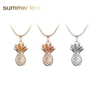 Wholesale crystal fruit plate - New Gold Silver Color Fruit Pineapple Choker Necklace Pendant Crystal Rhinestone Necklace Women Chain Statement Jewelry Gift Girl Collares