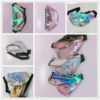 Wholesale cartoon girls beach - 4 Colors Women Laser Waistpack Quicksand Waist Bags Bling Bling Chest Bag Outdoor Beach Bag Fashion Storage Bags CCA9768 10pcs