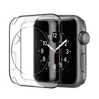 Wholesale apple watch case - 38mm mm Slim Transparent Crystal Clear Soft TPU Rubber Flexible Lightweight Protective Cover Case For Apple Watch iWatch Series