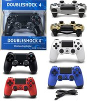 Wholesale PS4 Controller Dual Vibration Effect For Playstation Connect USB Cable Support Long Running And Comfortable Buttons With Retail Package