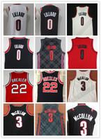 venta al por mayor al por mayor-NCAA 2018 Nuevos hombres # 0 Damian Lillard Jerseys 3 # CJ McCollum bordado 22 # Clyde Drexler camisas al por mayor barato cosido baloncesto Jersey