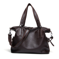 Wholesale Men S Casual Shoulder Bag - 40x32CM New Fashion Trend Genuine Leather Casual Men' S Shoulder bag A4220