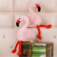 Wholesale plush birds for sale - 30cm Creative Simulation Pink Flamingo Plush Toys Cute Animal Bird Flamingo Stuffed Doll Novelty Items CCA10479
