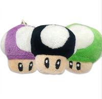 Wholesale big super mario plush for sale - Group buy 1000pcs cm Super Mario Bros Mushroom With Key Chain Plush Doll Toy kids gift Classic Pendant