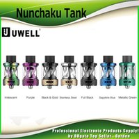 Wholesale Replacement Plugs - Authentic Uwell Nunchaku Tank Atomizer with 5ml Plug-Pull Replacement Coil Separate Condensation Holder Tanks 100% Genuine