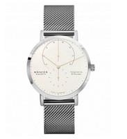 bandas de reloj de moda al por mayor-La mejor marca de moda NOMOS Dial negro Relojes modernos Vogue Banda de malla metálica Relojes a prueba de agua diarios Relojes de pulsera de cuarzo Día de San Valentín