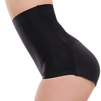 körper taille pads groihandel-BONJEAN sexy High Waist Briefs Padded panty Charming Women slim underwear bottom hip up briefs Butt Enhancer body shaper panties