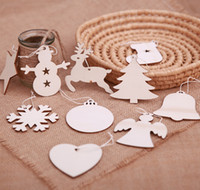 подвесные украшения для кулона оптовых-Рождественская елка висит деревянные украшения партии рождественские украшения для дома Деревянный кулон подарки дерево DTY украшения