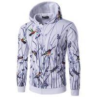 suéter chino al por mayor-2018 nuevo estilo Chinese landscape painting, casual sudadera con capucha de los hombres