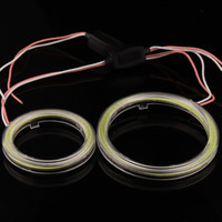 Wholesale universal led halo rings - 1PC NEW High Bright White COB Angel Eyes Halo Car LED Light Ring DRL Halo Headlight Lamp