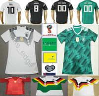 Wholesale soccer jersey germany - 2018 World Cup National Germany Football Jersey Muller Gotze Reus Kroos Draxler Neuer Ozil Boateng Custom Black White Green Soccer Shirt