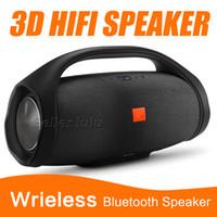 bluetooth dış mekan hoparlörleri toptan satış-Güzel Ses Boombox Bluetooth Hoparlör Stere 3D HIFI Subwoofer Handsfree Perakende Kutusu Ile Açık Taşınabilir Stereo Subwoofer