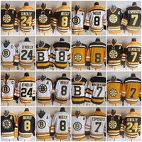Wholesale vintage cams - CCM Vintage Boston Bruins Hockey 7 Phil Esposito 8 Cam Neely 24 Terry O'Reilly 75th Classic CCM Jerseys Stitched