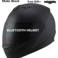 gegensprechanlage bluetooth großhandel-Motorrad Bluetooth Helm Fahrrad dunkle Linse mit integriertem Intercom Musik Telefonanruf Kumpel schwarz S M L XL XXL