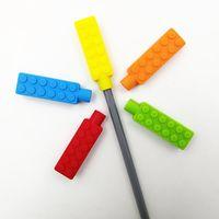 ingrosso cibo di mattoni-Masticare Mattoni Silicone Toppers Food Grade dentizione Giocattoli sensoriali per ragazzi Ragazze Bambini Chewy Topper Denti di autismo Aiuto