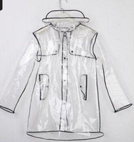 Fashion Slim PVC Polyerser Raincoat Special Sale Waterp Roof Breathable Reflective Adult Raincost
