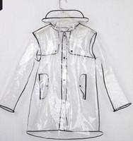 erwachsener pvc regenmantel großhandel-Mode schlank PVC Polyerser Regenmantel Sonderverkauf Waterp Dach Atmungsaktiv Reflektierende Erwachsene Raincost