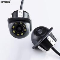 câblage de caméra de vue arrière achat en gros de-Appareil-photo de voiture de voiture de DVR Hippcron Caméra de recul de voiture (avec / sans LED) Mini aide au stationnement étanche renversant le fil HD CCD
