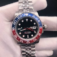 Wholesale watch world time for sale - 2018 Basel World New BLRO Red and Blue Bicolor GMT Cerachrom Pottery Hours Scale Word Men Automatic Movement Dive Watch