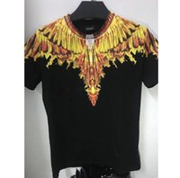 Wholesale l s magazine - 2018 ss Marcelo Burlon T Shirts Men Women Italy County Of Milan Feather Wings MB T-shirt RODEO MAGAZINE Tee Marcelo Burlon T Shirts