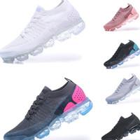 d48f9e8578e Nike Air Vapormax Flyknit 2.0 2018 Verão Novo Estilo Voar Vapormax 2.0 Tênis  Para Homens E Mulheres Tamanho 36-45 Preto Branco Sem Caixa
