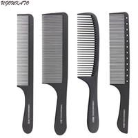 ingrosso strumenti professionali di taglio di capelli-Pettini antistatici a testa piatta in carbonio duro pettine professionale per pettinatura per parrucchiere