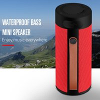 Wholesale subwoofer usb input resale online - T4 Outdoor Portable Bluetooth Speaker Stereo Wireless Speaker With HD Audio and Enhanced Bass Support TF USB Input For Smart Phone