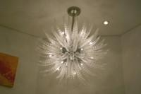 lámparas chihuly al por mayor-Araña elegante con mejores ventas para la decoración casera Lámpara de cristal soplada mano de lujo del estilo de Chihuly del estilo de Chihuly