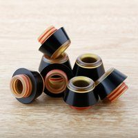 Wholesale o ring drip tip resale online - PEI and Resin Drip Tips Wide Bore Drip tip Mouthpiece Fit TFV8 TFV12 Ecig Dripper Tip with Dual O rings DHL Free