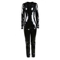 l zentai trajes catsuit venda por atacado-GLAMCARE Fantasias Cosplay Fetiche Catsuit Playsuit Sexy Punk PVC Olhar Bodysuit Night Club Fetiche Vestir Preto