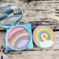 Wholesale rainbow makeup palette for sale - Group buy Brand Rainbow Strobe Highlighter Compact Life s A Festival Rainbow Multicolor Bronzer Makeup Highlighters Palette Powder by niubility