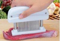 cuchillos martillados al por mayor-48 Cuchillas Aguja Ablandador de Carne Cuchillo de Acero Inoxidable Carne Beaf Filete Mazo Ablandador de Carne Martillo Pounder Herramientas de Cocina WN339