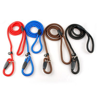 тренировочный ошейник для собак оптовых-Pet Dog Nylon Adjustable Training P Collar Lead Dog Leash Strap Rope Traction Leash