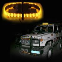 светодиодные сигнальные лампы желтого цвета оптовых-Высокая мощность Янтарь 240 LED водонепроницаемый автомобильные магниты стробоскоп свет сигнальная лампа Маяк аварийная полиция пожарные свет