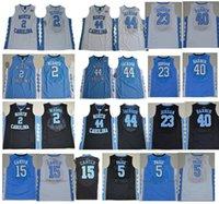 Wholesale Gold Carolina - #15 Vince Carter #44 Justin Jackson #2 Joel Berry II 23 Marcus Paig 5 North Carolina Tar Heels college stitched basketball jersey